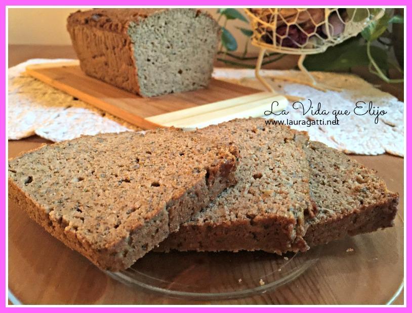 Pan de zucchini o calabacín sin harina ni lácteos