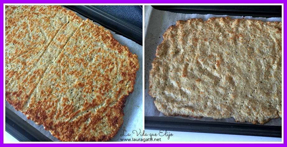 Pizza sin harina (2 versiones)