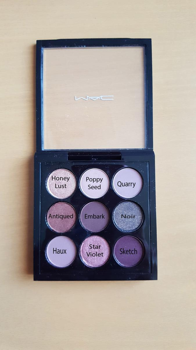 Paleta burgundy times nine mac sombras colores poppy seed quarry noir sketch star violet