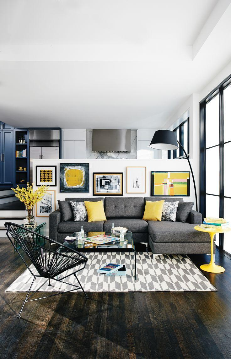 grey-interior-design-with-pops-of-yellow
