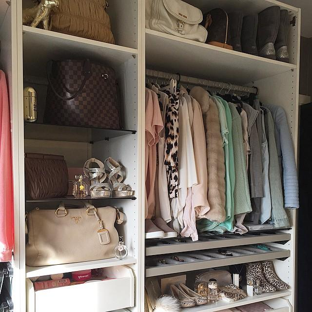 Closet with Pull Out Jewelry Drawers
