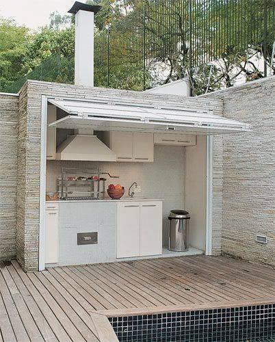 проста украса външна кухня