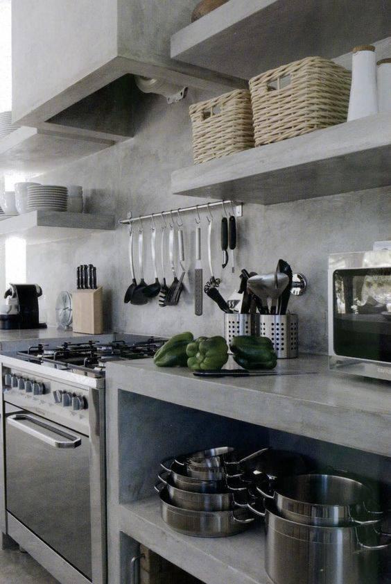 прост кухня украса бетон