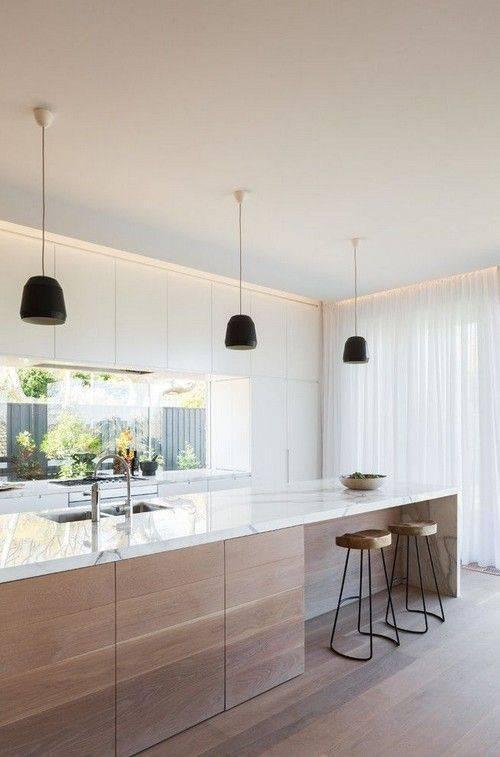 просто украсени мрамор кухня