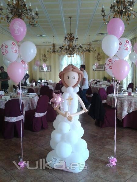 decoracion con globos para primera comunion (2) (FILEminimizer)