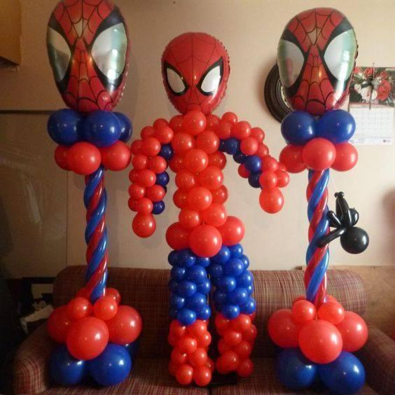 decoracion con globos de spiderman (3) (FILEminimizer)