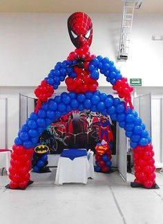 decoracion con globos de spiderman (4) (FILEminimizer)