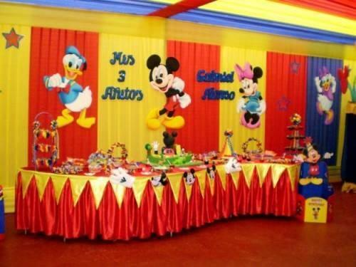 decoracion con telas de mickey mouse (4)