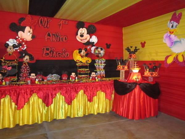 decoracion con telas de mickey mouse (3)