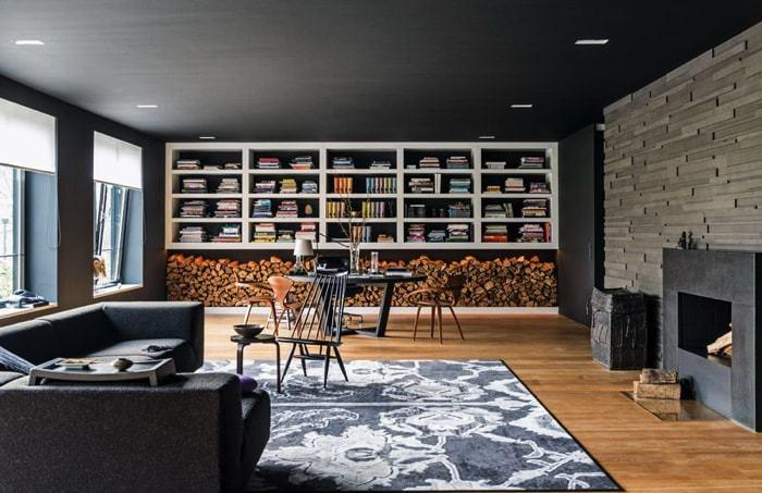 Casoplón de 1.200m2 - biblioteca all black