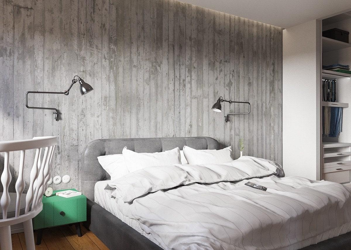 Claves_para_crear_contrastes_de_color_en_la_decoración_espacio_dormitorio_green-and-grey-bachelor-bedroom-interior-min