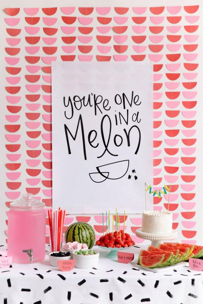 Decoración de San Valentin diy-watermelon-party-free-printable