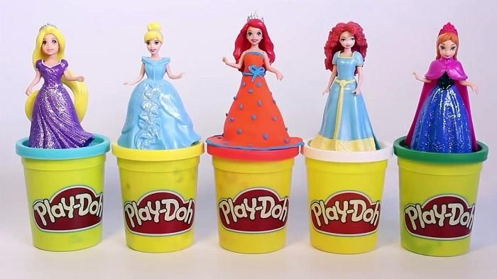 vestir princesas magic clip con plastilina play doh