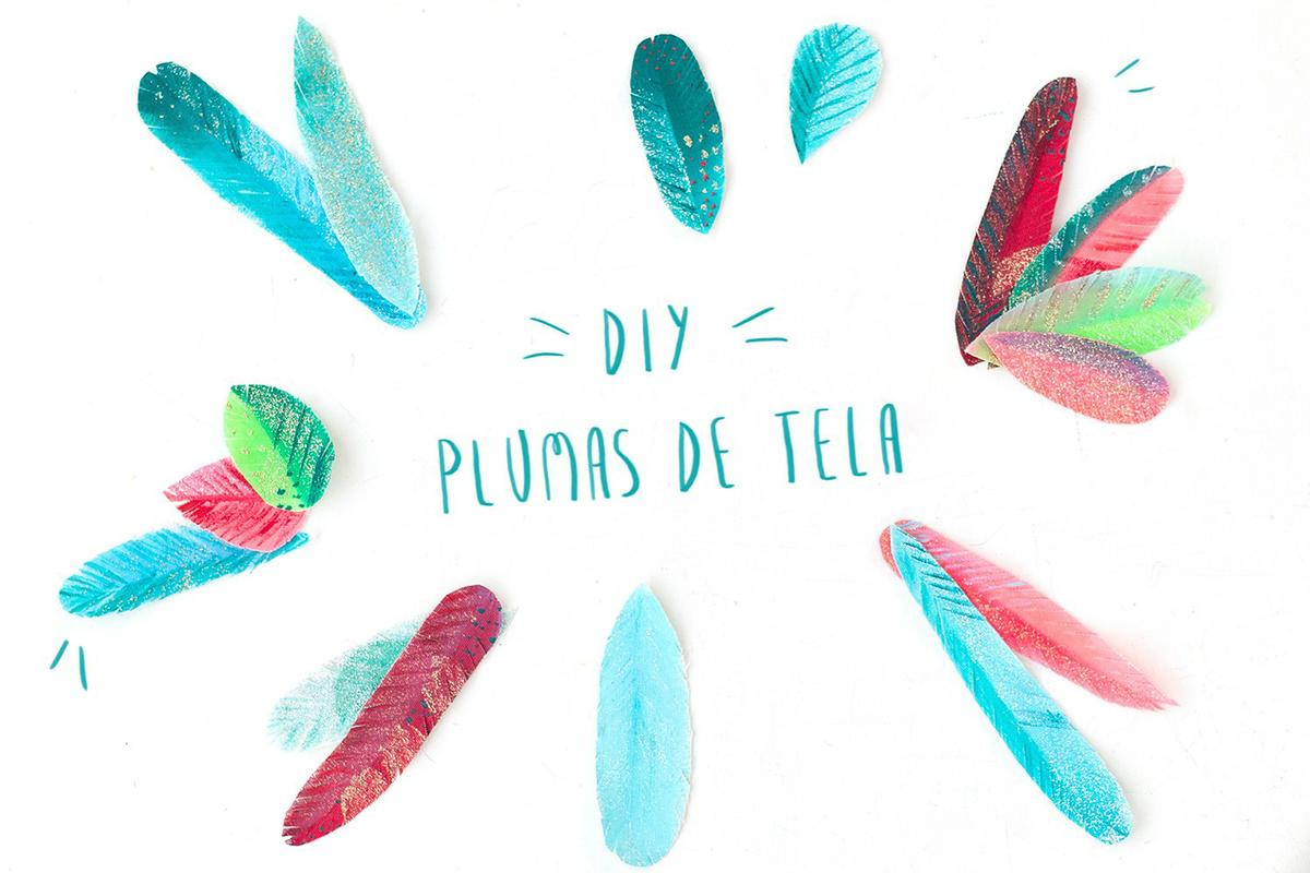 "Plumas de tela, visto en ""I am a Mess Blog"""