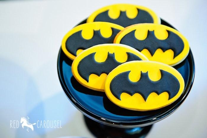 Batman ideas para fiestas galletas