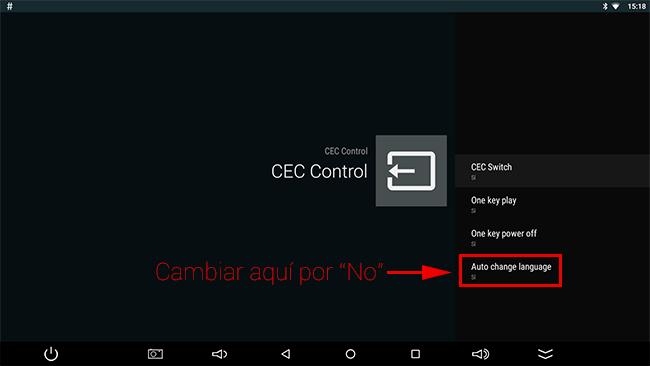 Android TV Box cambia idioma a ingles HDMICEC
