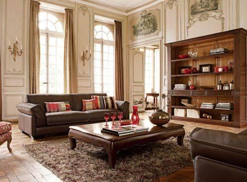 decoracion de salas con muebles marrones (3)
