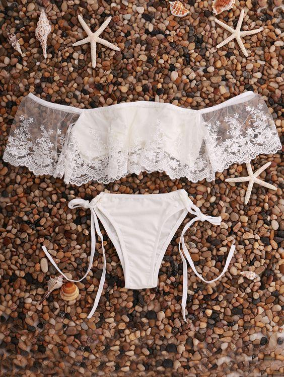 favoritos de la playa off the shouder bikini