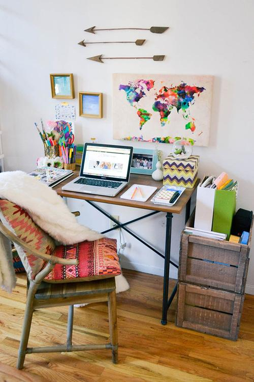 Bohochic-home-office-advicefromatwentysomething
