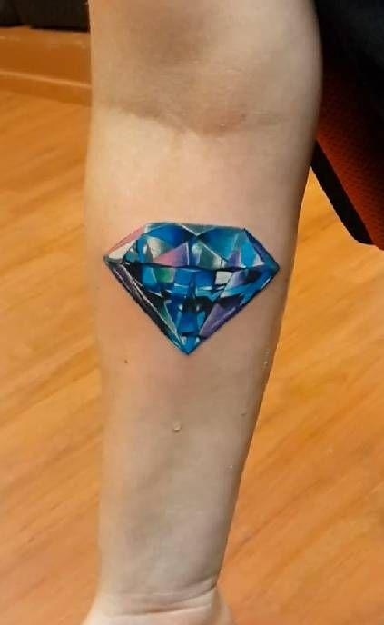 diamante tatuaje 3D