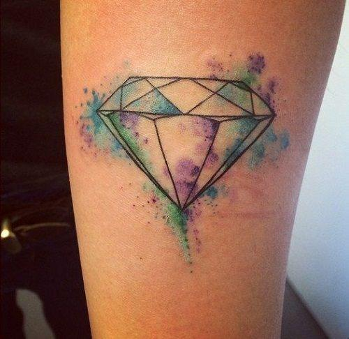 diamante sin color tattoo