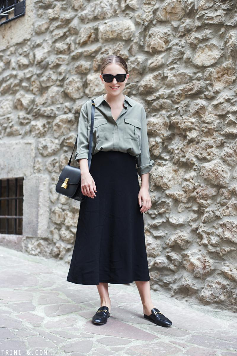 Trini |Equipment shirt The Row skirt