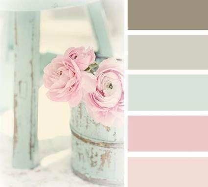 Colores básicos Shabby chic. Imagen referencial Pinterest