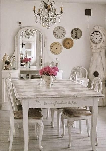 Comedor Shabby chic. Imagen referencial Pinterest