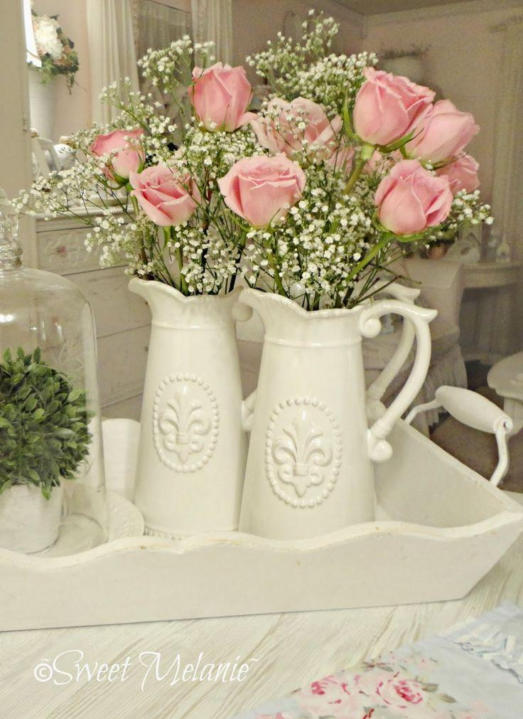 Porcelana Shabby chic. Imagen referencial Pinterest