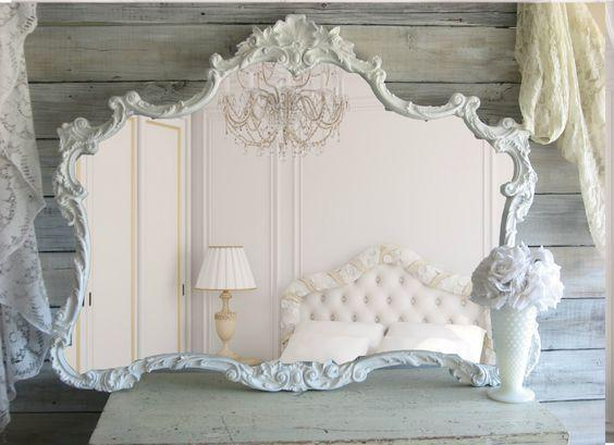 Espejos Shabby chic. Imagen referencial Pinterest