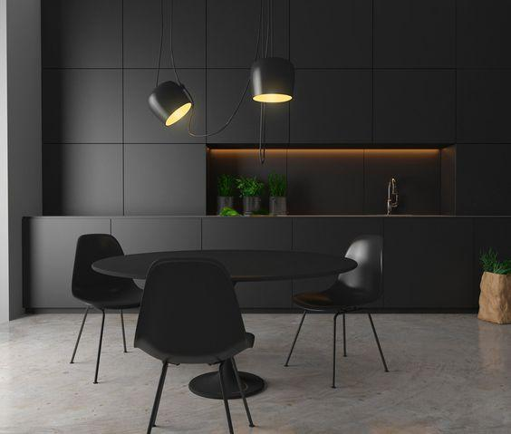 Black kitchen as one of the 2018 trends