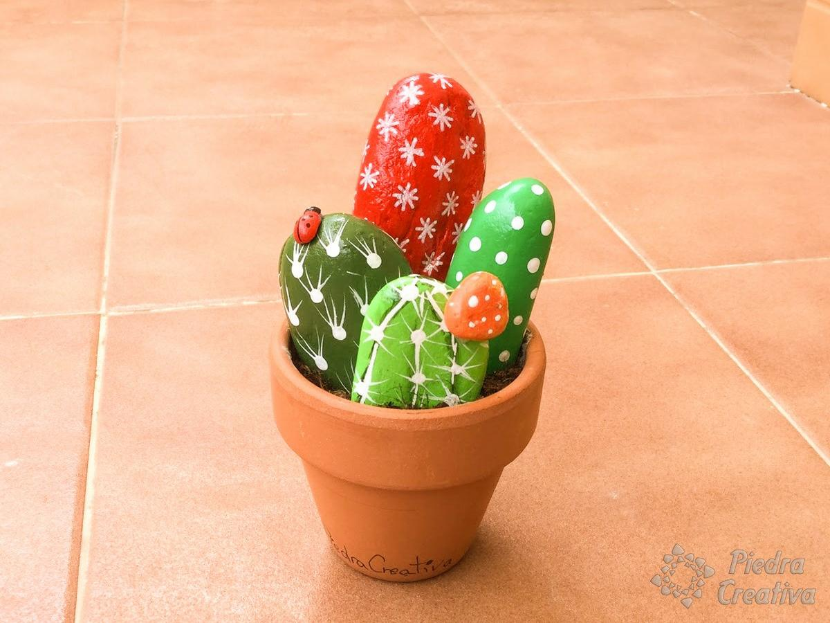 DIY - Cactus en piedra en PiedraCreativa