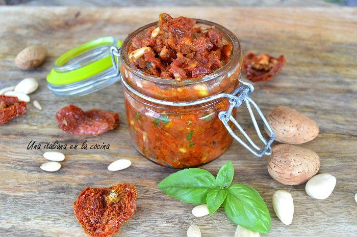 pesto de tomates secos