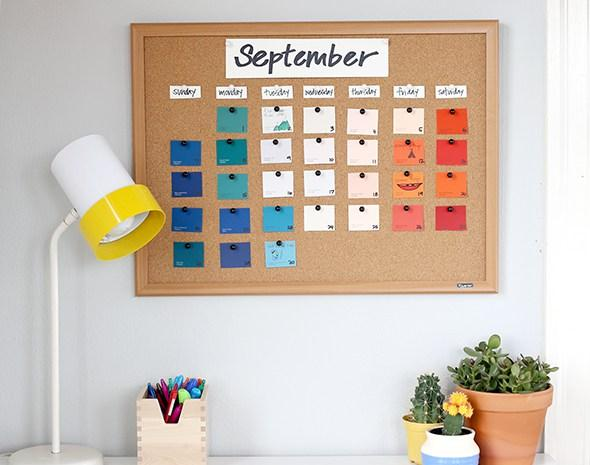 calendario diy corcho