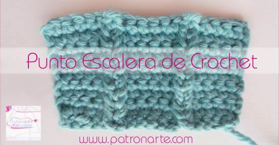 Punto escalera de crochet blog