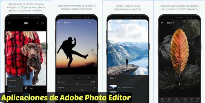 Aplicaciones de Adobe Photo Editor