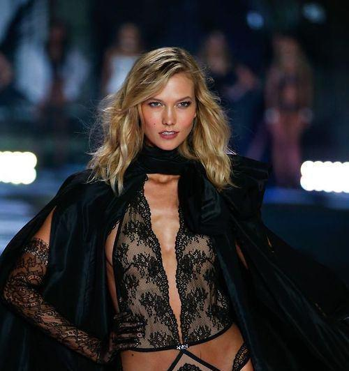 Karlie Kloss walks the runway at the 19th annual Victoria's Secret Fashion Show in London on December 2nd, 2014