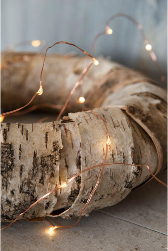 Nordic Christmas decor - Wreath made of beech bark - Affari