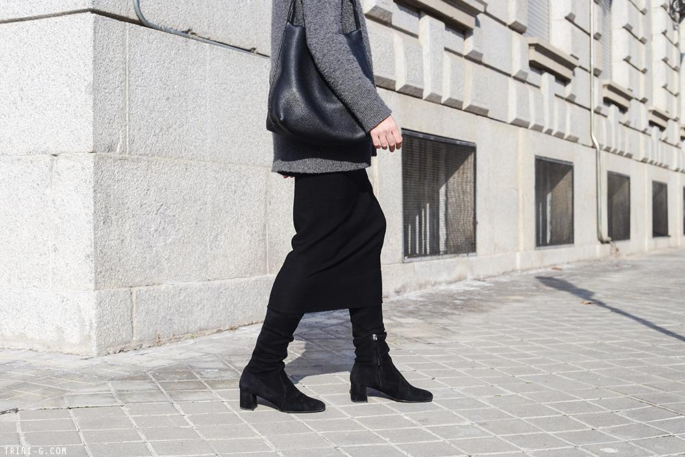 Trini | Prada boots Isabel Marant skirt The Row sweater