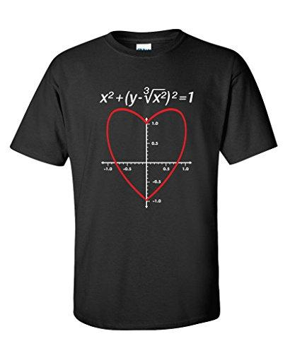 Love Heart Equation Math Graphic Funny Valentines Day T Shirt M Black