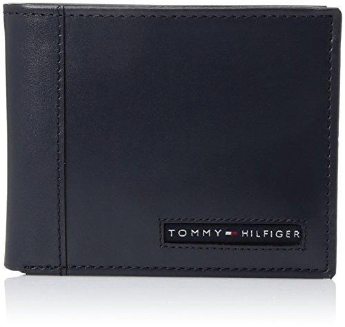 Tommy Hilfiger Mens Leather Cambridge Passcase Wallet With Removable Card Case,Navy,One Size