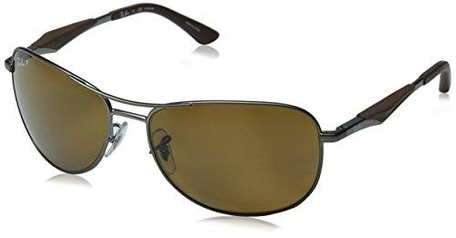 Ray-Ban Polarized RB3519 Sunglasses - Matte Gunmetal Frame/Brown Lens