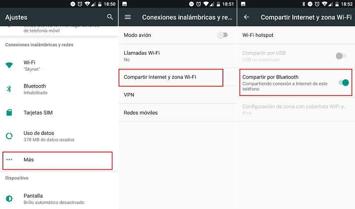 Configurar Android como modem como Bluetooth para tabletas moviles y otros dispositivos