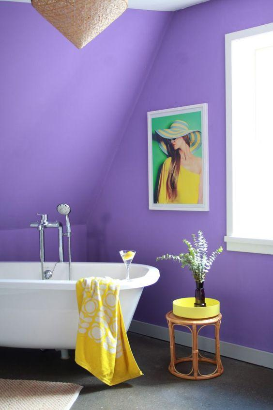 Decoración en morado