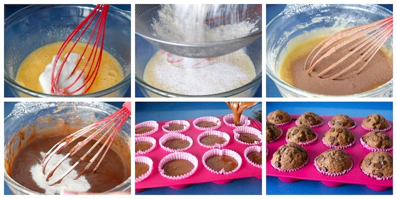 magdalenas de chocolate collage