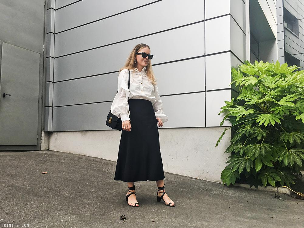 Trini | Céline shirt The Row skirt