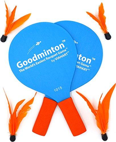 Goodminton | The Worlds Easiest Racket Game | An Indoor Outdoor Year-Round Fun Racquet Game for Boys, Girls, and People of All Ages