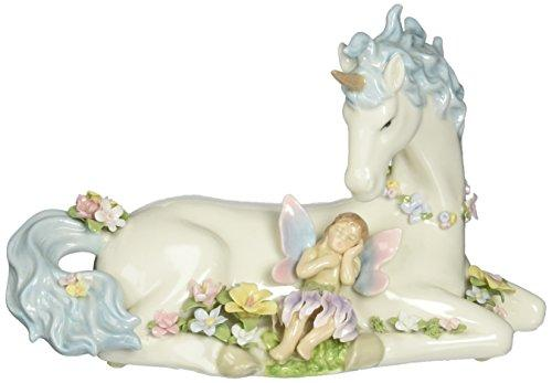 Cosmos 80076 Fine Porcelain Unicorn with Fairy Musical Figurine, 8-Inch