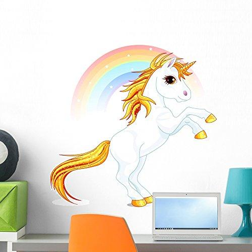 Wallmonkeys Unicorn Wall Decal Peel and Stick Graphic WM170199 (24 in W x 23 in H)