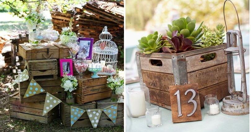 Cajas de madera para decorar tu boda: ¡una idea inspiradora!